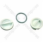 Indesit Dishwasher Rinse Aid Cap - Pack of 2