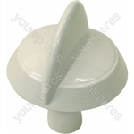 Indesit White Hob Hotplate Control Knob