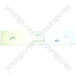 Indesit White Plastic Dishwasher Control Panel Fascia
