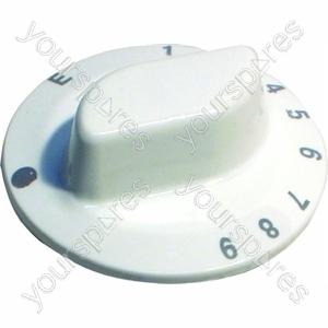 Indesit White Oven Control Knob