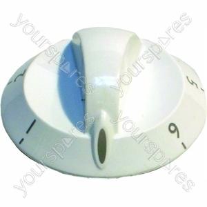 Indesit White Hotplate Control Knob