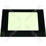 Creda 48423 Outer Oven Door Glass w/ Dark Brown Surround