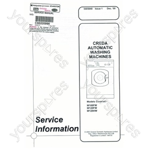 Creda W120FW Service Manual
