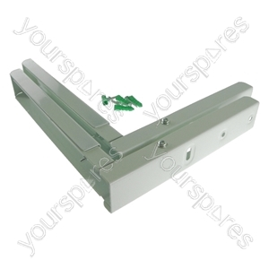 Universal Microwave Wall Bracket Extendable Arms White