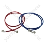 Zoppas Universal Washing Machine Inlet Fill Hose Set 2.5M Hot & Cold