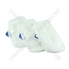 Steam Mop Pads With Black Scrubbing Pad (Pack of 3)