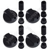 Universal Cooker Oven Grill Control Knobs And Adaptors Black Fits All Gas Electric x 4