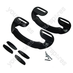 Iceking 2 X Black Plastic Fridge Freezer Door Grab Handle