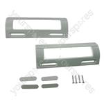 Belling 2 x Universal White Fridge Freezer Door Handle 80mm-150mm