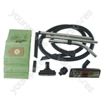 Numatic Vacuum Cleaner 2.5m Hose and Tool Kit with 20 x Paper Dust Bags