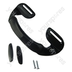 Universal Black Plastic Fridge Freezer Door Grab Handle