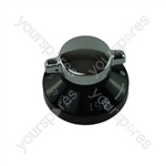 Belling 050541099 Black & Silver Oven Control Knob