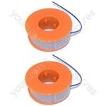 2 x Bosch Strimmer Trimmer Spool And Line ART23, ART26, ART30, ART2300, ART300, ART2600
