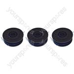 Qualcast GT30 & GGT450A1 450 Watt 3 x Spool & Line For Strimmers 1.5 mm x 2 mm x 5 metre
