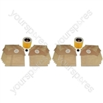 Karcher Wet & Dry Vacuum Cleaner Dust Bags x 20 and 2 Filters Set