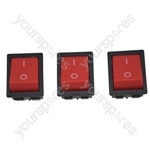 Numatic BX190 On/Off Rocker Vacuum Cleaner Switch x 3