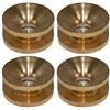 Pack Of 4 Universal 2 Line Strimmer Head Brass Eyelets