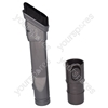Slim Combination Dusting Brush and Crevice Tool Assembly for Dyson Vacuum Cleaners