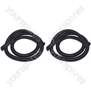 2 x Numatic 2.5 Metre 32mm Vacuum Cleaner Flexible Suction Hose Pipe