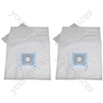 10 x Bosch Microfibre Vacuum Cleaner Dust Bags Type D E F G H + Filter