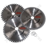 Circular Saw Blades 160mm x 20mm TCT Tungsten Carbide Teeth 36 48 and 60 Tooth Triple Pack