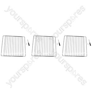 Meneghetti 3 x Extendable Oven Cooker Grill Shelf Grid Rack