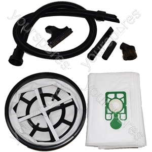 "Numatic Vacuum Cleaner 1.8 Metre Hose + 10 x Microfibre Dust Bags 12"" Filter + 4 Piece Tool Kit"