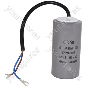 LG 200UF / 200MFD AC Motor Start Capacitor with Cable 250v