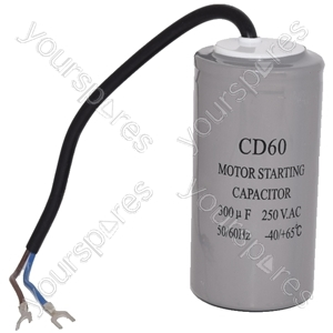 Universal 300UF / 300MFD AC Motor Start Capacitor with Cable 250v