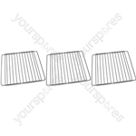 Crosslee 3 x Oven Cooker Grill Shelf Grid Rack