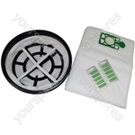 "Numatic 12"" Microfibre Cloth Filter and 10 x Microfibre Vacuum Cleaner Bags with Air Fresheners"