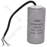 Universal Motorhome 300UF / 300MFD AC Motor Start Capacitor with Cable 250v