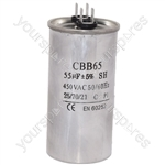 Indesit 55UF/MFD AC Motor Start Capacitor 450v