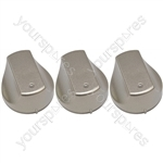 Hot-Ari ix Control Switch Knobs for Hotpoint Ariston Indesit Oven Cooker Hob Silver Pack of 3