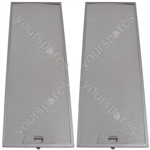 Meneghetti 2 x Cooker Hood Metal Grease Filter 515mm x 186mm