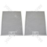 Bosch 2 x Cooker Hood Metal Grease Filter 311mm x 250mm