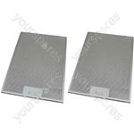 Tricity Bendix 2 x Cooker Hood Metal Grease Filter 265mm x 395mm