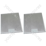 Tricity Bendix 2 x Cooker Hood Metal Grease Filter 287mm x 313mm