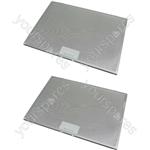 Tricity Bendix 2 x Cooker Hood Metal Grease Filter 425mm x 310mm
