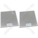 Meneghetti 2 x Cooker Hood Metal Grease Filter 275mm x 310mm