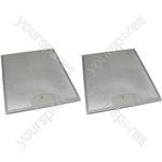 Meneghetti 2 x Cooker Hood Metal Grease Filter 250mm x 311mm