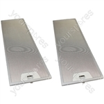 Meneghetti 2 x Cooker Hood Metal Grease Filter 166mm x 515mm