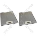 2 x Universal Cooker Hood Metal Grease Filter 231mm x 276mm