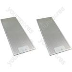 Meneghetti 2 x Cooker Hood Metal Grease Filter 175mm x 445mm