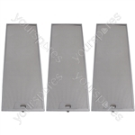 Meneghetti 3 x Cooker Hood Metal Grease Filter 515mm x 186mm