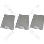 Tricity Bendix 3 x Cooker Hood Metal Grease Filter 265mm x 395mm