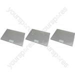 Tricity Bendix 3 x Cooker Hood Metal Grease Filter 425mm x 310mm