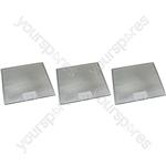 Meneghetti 3 x Cooker Hood Metal Grease Filter 305mm x 264mm