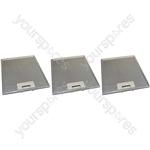3 x Universal Cooker Hood Metal Grease Filter 231mm x 276mm