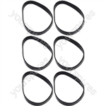 Morphy Richards Compatible Vacuum Cleaner Drive Belts Pack of 6
